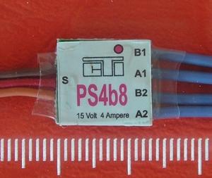 CTI PS4b8 mini MULTI-SWITCH  4-kanaals -4Amp op 1CH  Envelop