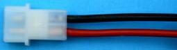 AMP stekker MALE pen m- Silicone 1,5mm2  15cm nr. 58410