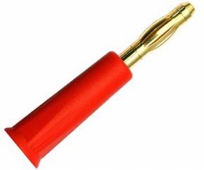 Bananenstekker GOLD / Male 4mm  ROOD  71650