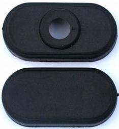 Eindkappen zwart voor 2x A cellen accupack inline  nr.80202