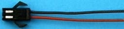Aansluitkabel akku sil FEMALE SLOW-FLYER 30cm 2x 0,25mm2