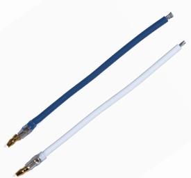 Graupner 2977 Motoraansluitset Blauw/Wit silicon 4mm steker
