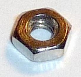 Graupner moer zeskant M2,5mm messing vernikkelt nr 707