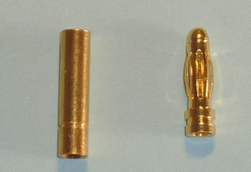 Goldplug 3mm Robbe Light FEMALE+MALE  nr 81202+3