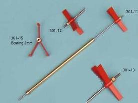 Schroefas RVS/M Onderhoudsarm ,M2  140-230mm  301-11  Envelop