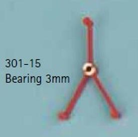 Ashouder voor M3  3mm voor as  301-12 nr. 301-15