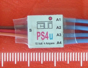 CTI PS4u mini MULTI-SWITCH  4-kanaals -4Amp op 1/2 CH  Envelop