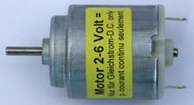DC Motor klein 2-6V  as 2mm 20gram nr. 71790  Envelop
