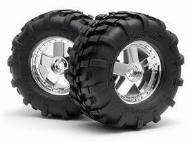 HPI GT Tyre S COMP GT5 Wheel Chrome nr. 4708  Pakket