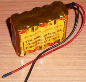 DrivePack Graupner 5/2 AA 10cell 12V-2600mA ENELOOP