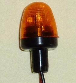 Pistenking Zwaailamp Orange Rond, Pilaar  4-12V , 1:16  Envelop