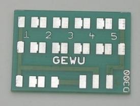 GEWU Dachplatine, printplaat dakverlichting  nr. D.300
