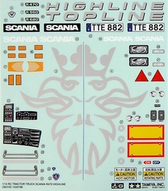 Topline Auto Parts >> Tamiya Stickers SCANIA, Topline Highline 56318 - Envelop