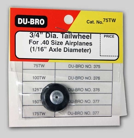"""DUBRO 75TW Tail Wheel with Aluminum Hub 3/4"""" (19mm)"""
