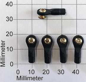 Robbe 5204 Kogelgewricht 19mm kogel+voet 4,8mm M2/2mm 5 Stk  Envelop