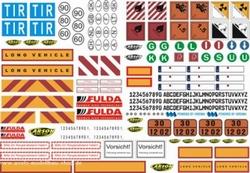 Carson 907086 Dekorbogen LKW Warntafeln für Tamiya-Truck  Envelop