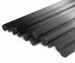 Carbon Rond Massief CFK  2,0mm/1000mm