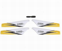 Graupner Rotor blades 190mm for Nano Star 3 yellow 92404.2G