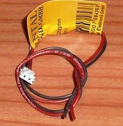 Balanceer aansluiting 1S EH stekker 30cm siliconen 58436  Envelop