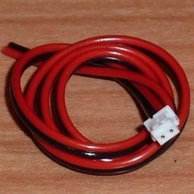 Accu aansluiting ZH bus 2 polig 0,14 PVC 30cm lang 48425