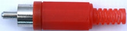Chinch-Stecker rot, 1 Stück, mit Knickschutz 71500