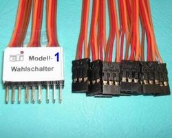 CTI Modellbau Modell-Wahlschalter 7x1  Envelop
