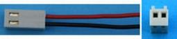 Accukabel Robbe Futaba zender Sil 2x0,25mm2 lengte 20cm