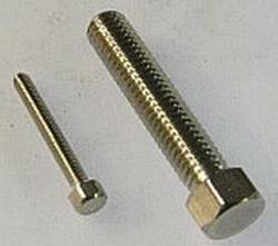 Bout M1,6 x 12mm Staal Hoge zeskant kop 201-16-12