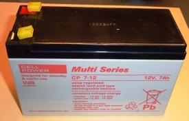 Lood gel accu 12V-7Ah  YU7-12, Cellpower  Pakket