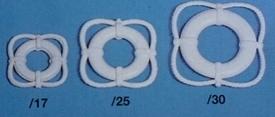 Aeronaut reddingsring wit 8mm 24 stuks