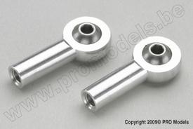 Aluminium bolgewricht M2,5 (2st)  GF-2146-002  Envelop