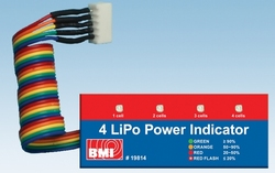 BMI 19814 LiPo power indicator LED 4 cell  Envelop