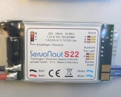 Servonaut S22 snelheidsregelaar TRUCK  7,2-12V 2-3S  Pakket