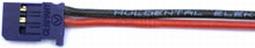 Graupner/UNI FEMALE sil accuaansluiting 2x0,5mm2- 20cm 59183