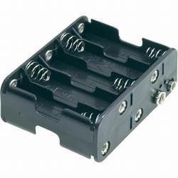 Batterijhouder D clip 10x mignon AA cellen nr. 58712