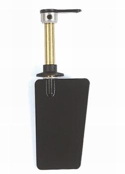 Graupner SZ1015.1  Roer ALU schuin 30x22mm met stuurhevel