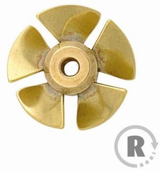Raboesch 108-38  Schroef Bowthruster 5 blad 29mm 4mm as  Envelop