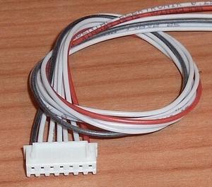 Balanceer aansluiting  6S XH stekker 30cm siliconen 58494