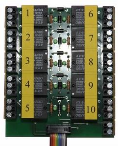 Beier AKL-10-R-12V relaisplaat 10x voor  USM-RC2 / EXM-2