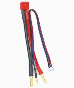 Graupner 3041.T silicon adapterkabel Dean T plug 4mm/2mm