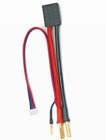 Graupner 3041.TRA silicon adapterkabel Traxxas plug 4mm/2mm