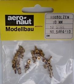 Aeronaut  Oogbouten 8mm M2  Messing 10 stuks  Envelop
