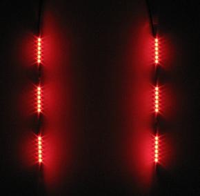Pistenking  Backfire kort rood 3x5 led zijwaarts  6-12V   Envelop