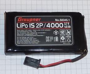 Graupner S8345.1 Senderakku LiPo 3,7V 1S2P 4000 mAh TX