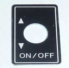 Robbe Futaba Label ALU Switch ON/OFF 1x  98-0197  Envelop
