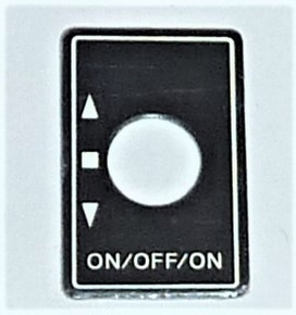 Robbe Futaba Label ALU Switch ON/OFF/ON  1x  98-0196  Envelop