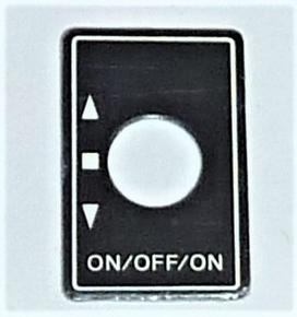 Futaba Label ALU Switch ON/OFF/ON  1x  98-0196