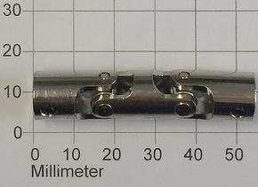 Kruis Koppeling Dubbel 5-5mm Metaal 52mm lang, Robbe 5221  Envelop