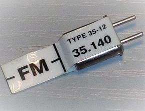 FUTABA FM RX CRYSTAL 35mHz RECIEVER  Envelop