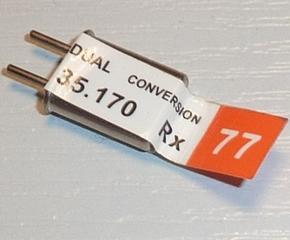 FUTABA Doppelsuper (Dual Conversion) FM RX CRYSTAL 35mHz   Envelop